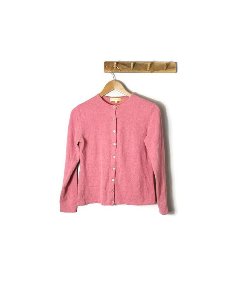 b07775c3bfe Pink Cashmere Cardigan. Cashmere wool Cardigan / SMALL