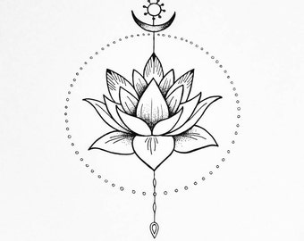 Floral photography download print lotus flower poster giclee spiritual art print the lotus flower peace and harmony illustration mightylinksfo