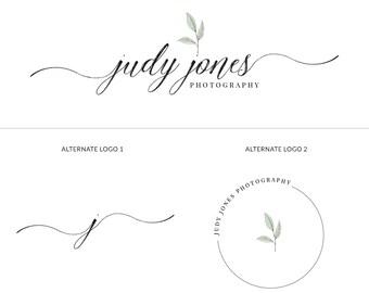 Premade Logo Branding Kit, Photography Logo Package, Calligraphy Logo Design Branding, Premade Watermark Logo, Signature Logo Design, s122