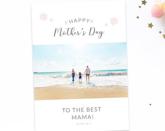2018 Mother's Day Card Template, Holiday Card Photo, Mother's Day Card, Holiday Card Template for Photographers, Family Mothers Day Card
