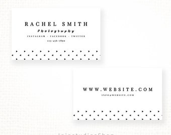 Diy business cards etsy diy business cards premade business card template for photographers modern card template business branding do it yourself cards wedding solutioingenieria Gallery