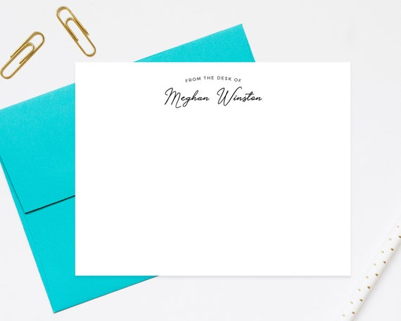 teachers stationery from the desk of stationary professional etsy