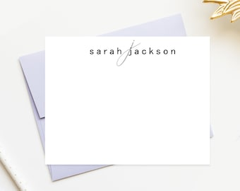 Personalized Monogrammed Stationary with Monogram, Stationary Monogram Notecards Set for Gift, Personal Notecards Stationery, Thank You