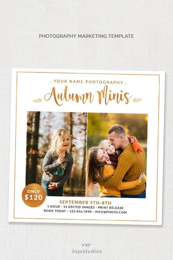 Autumn Mini Session Template Photographer Templates Family Etsy
