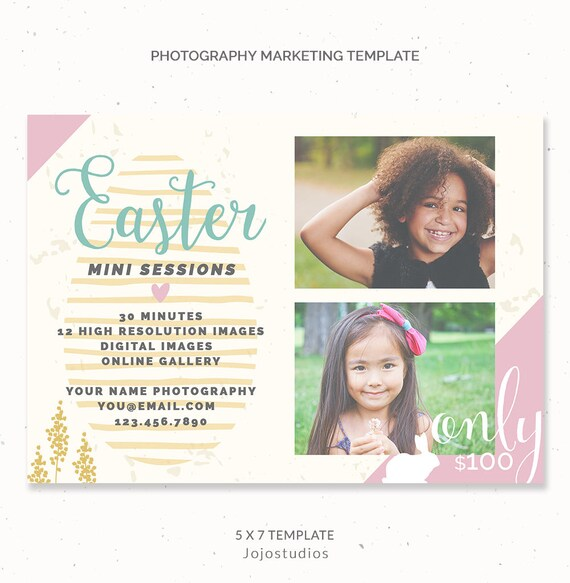 Ostern-Mini-Session-Vorlage Ostern Marketing Board | Etsy