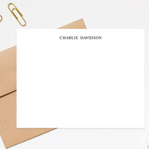 Correspondence cards Notecards personalized Business note cards Personalize Stationary with envelopes Simple Stationery for Men