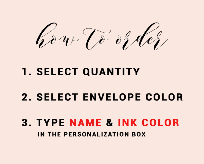 Flat Personalized Notecard Floral Watercolor Stationary for Her Stationary Notecard Gift Set Pretty Personalized Script Stationery Set