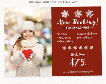 Christmas Template Photography, Christmas Mini Session Template, Photoshop Template, Holiday Photography Templates, Holiday Minis, cr008
