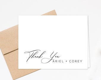 Personalized Modern Thank you Greeting, Family Stationery Thank you Notes, Personalized Stationary Greeting Cards, Notecards Set Thank You