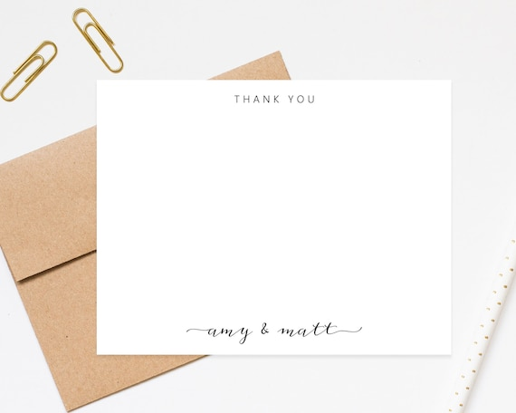 Stationery For Couple Thank You Cards Thank You Notes Personalized Wedding Thank You Wedding Thanks Bride And Groom Printable Stationary