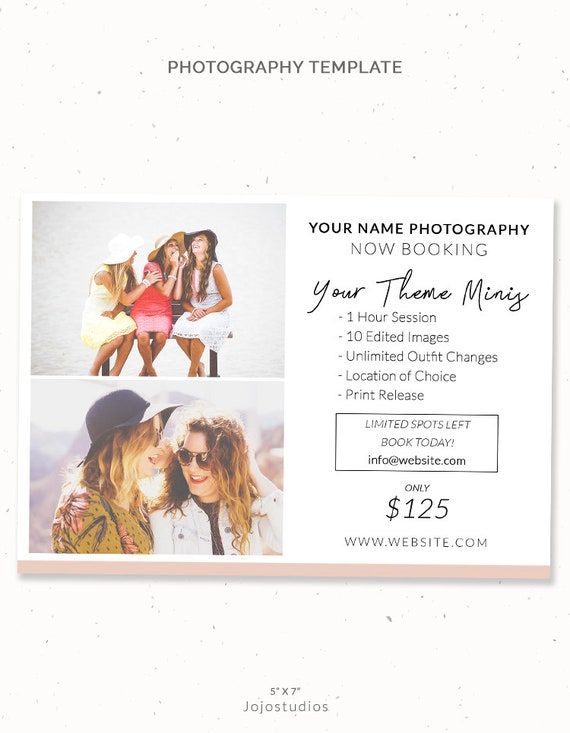 spring summer mini session digital template design photography etsy