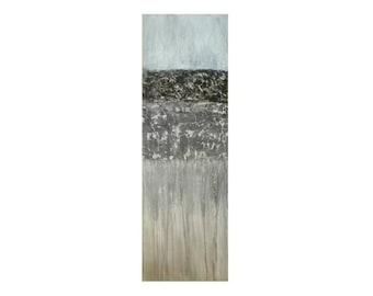 Acrylbild Malerei Strukturbild Abstrakt Original Handgemalt Grau Abstract  Art