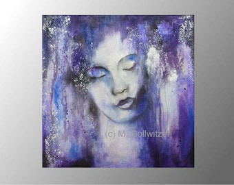 abstract acrylic painting portrait