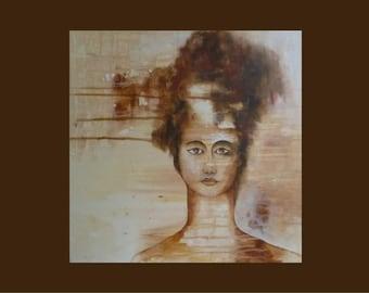 abstract acrylic portrait