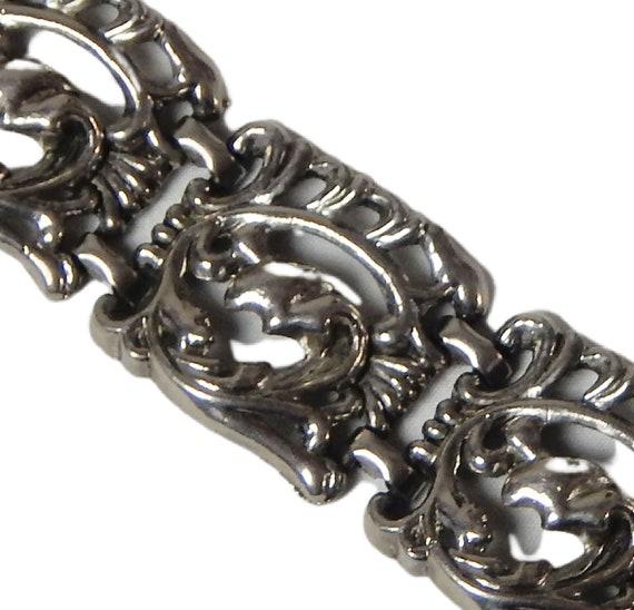Art Nouveau Bracelet, Art Nouveau Wide Panel Brac… - image 9