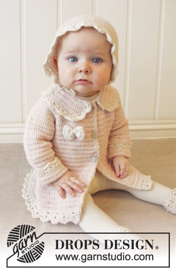 Häkeln Sie Hundemantel Für Baby Mädchen Vintage Mantel Jacke Etsy