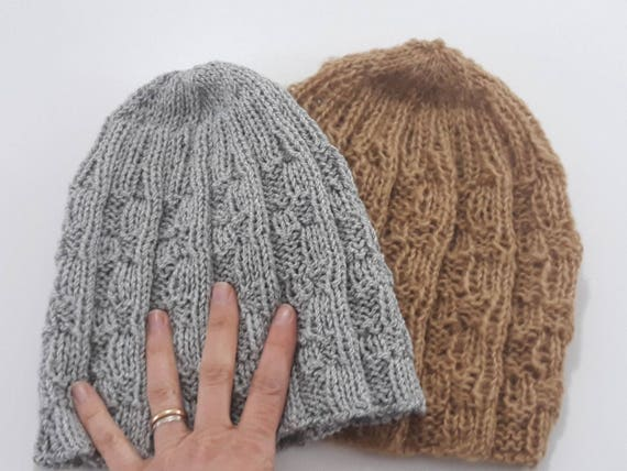 mens knitting patterns. Knit beanie for woman. Gender neutral  7803371a321