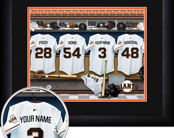 San Francisco Giants Locker Room Personalized Print