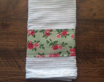 Shabby Chic Rose Garden Styled Towel