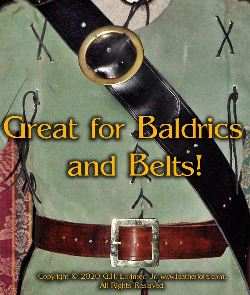 Solid Brass Wide Buckles for PiratesMountain MenReenactorLiving HistoryRenaissanceMedieval