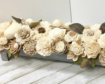 Sola Wood Flowers, Wood Centerpiece, Wood Flowers, Wood Arrangement
