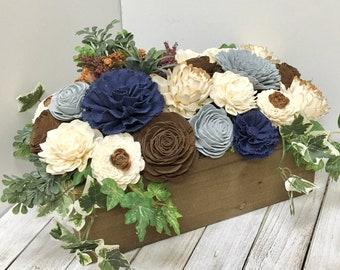Sola Wood Flower Arrangement, Wedding Table Flowers, Flower Arrangement