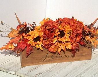 Autumn Silk Flower Table Centerpiece // Fall Flower Arrangement // Keepsake Gift