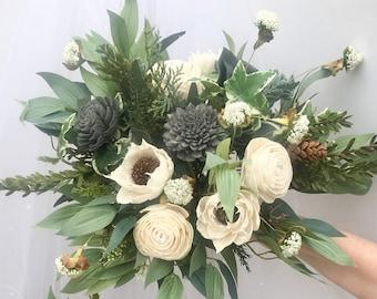 Elegant Sola Wood Flower Bouquet // Wedding Flowers // Wedding Keepsake