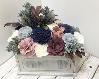 Sola Wood Arrangement, Wood Flower Arrangement, Wedding Centerpiece