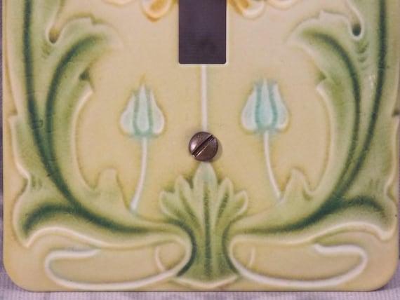 Talavera QUAD SWITCH 4-Toggle Light Plate Cover Mexico Pottery  QS#3