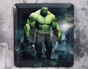 Metal Hulk Light Switch Cover - Super Hero - 2T Double Switch Plate