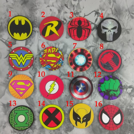 Super Hero Magnets Individually Sold Party Gift Build Etsy