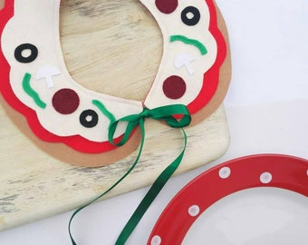 Pizza peterpan collar with ribbon tie