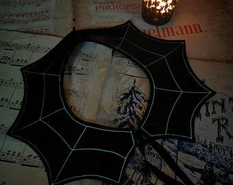 Glow in the dark cobweb felt collar