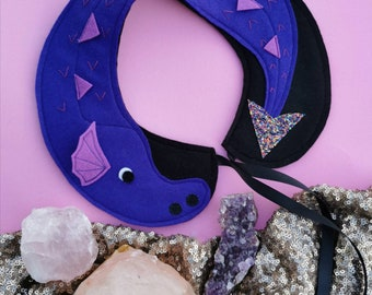 Purple Dragon felt peterpan collar