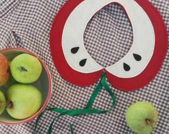 Autumn apple felt collar