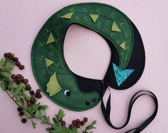 Green Dragon felt peterpan collar