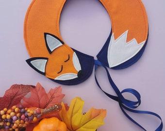 Felt Sleepy fox collar