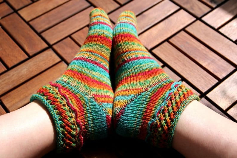 Sock Knitting Pattern Pdf Download For Beginners And Advanced Etsy