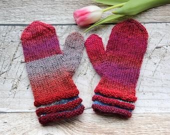 Childrens mittens, handknit gloves for children, stocking stuffers, winter fashion 3-6yrs