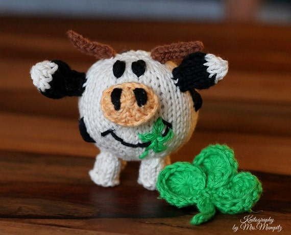 Toy Cow Knitting Pattern Pdf For Beginners And Advanced Etsy