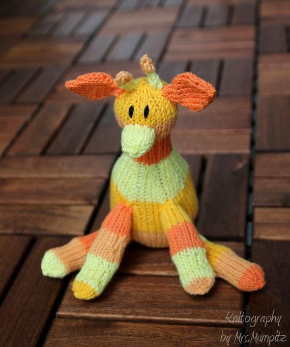Giraffe Knitting Pattern For Beginners And Advanced Knitting Etsy