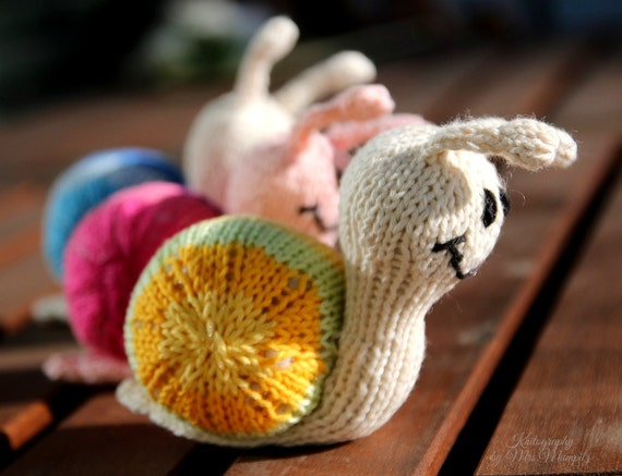 Snail Knitting Pattern For Beginners And Advanced Knitters Etsy