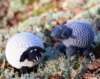 Sheep knitting pattern PDF, toy sheep knitting pattern for advanced beginners, lamb knitting pattern PDF download DIY stocking stuffer
