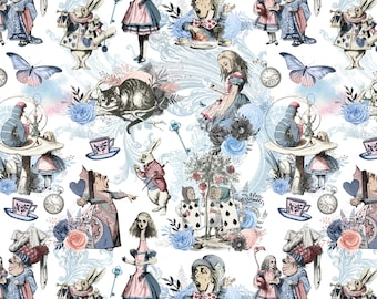 Alice in wonderland 1 metre sheet of luxurious gift wrapping paper Variety 2