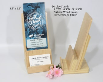 Literature with Business Card Holder, POS Stand, Retail Display, Trade Craft Booth, Show Display, Vendor Display, Flyer Stand
