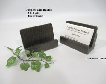 Business Card Stand, Wood Business Card Holder, Countertop Display, Wood Card Display