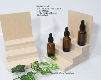 Bottle Display, Product Display Stand, Essential Oil Display, Display Stand 3 Tier, Craft Booth Stand, Countertop Display, POS Stand