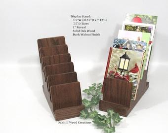 Display Stand 6 Tier, Brochure Display, Recipe Stand, Craft Booth Display, Wooden Display Stand, Card Stand