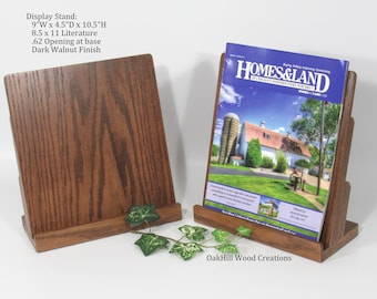 Brochure Display, Exhibition Display, Wooden Display Stand, Trade Show Booth, Retail Display, Flyer Stand